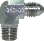 "Speedflow #serie# Series 90° -3 Male to 1/8"" NPT Male"